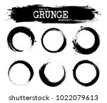 set of abstract grunge circle... | Shutterstock .eps vector #1022079613