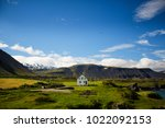 lonely house in a beautiful... | Shutterstock . vector #1022092153