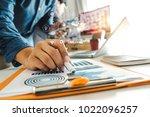 close up of businessman working ... | Shutterstock . vector #1022096257