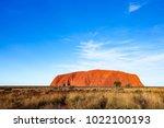 uluru  formerly ayer's rock  is ... | Shutterstock . vector #1022100193