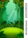 clean and green forest | Shutterstock . vector #1022103223