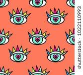 abstract seamless sport eyes... | Shutterstock .eps vector #1022110993