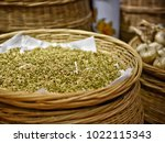 seeds  spices  background ... | Shutterstock . vector #1022115343