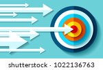 volume target icon in flat... | Shutterstock .eps vector #1022136763
