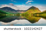 sunset at lake in district lake ... | Shutterstock . vector #1022142427