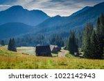 chocholowska valley at sunrise  ... | Shutterstock . vector #1022142943