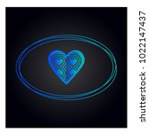simple vector hearts icon | Shutterstock .eps vector #1022147437