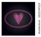simple vector heart icon | Shutterstock .eps vector #1022149123
