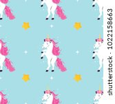 seamless pattern with cute...   Shutterstock .eps vector #1022158663