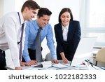 business people working... | Shutterstock . vector #1022182333
