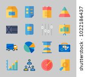 icons about business with pie... | Shutterstock .eps vector #1022186437