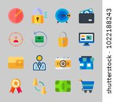 icons about commerce with... | Shutterstock .eps vector #1022188243