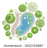 vector illustration. landscape... | Shutterstock .eps vector #1022192887
