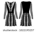 fashion flat drawing template... | Shutterstock .eps vector #1022195257