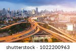 highway interchange junction...   Shutterstock . vector #1022200963