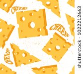 seamless pattern with cheese... | Shutterstock .eps vector #1022212663