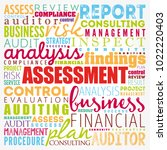 assessment word cloud collage ... | Shutterstock .eps vector #1022220403