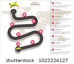 business infographic template... | Shutterstock .eps vector #1022226127