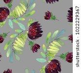 seamless watercolor pattern... | Shutterstock . vector #1022229367