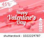illustration of valentines day... | Shutterstock .eps vector #1022229787