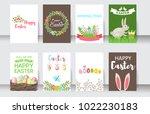 easter cards vector cartoon... | Shutterstock .eps vector #1022230183