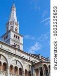 ghirlandina tower  modena ... | Shutterstock . vector #1022235853