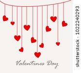 illustration of valentines day... | Shutterstock .eps vector #1022240293