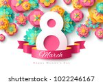 march 8. international women's... | Shutterstock .eps vector #1022246167