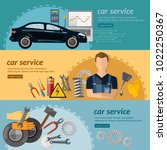 car service banner | Shutterstock .eps vector #1022250367