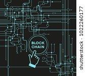 blockchain network concept  ... | Shutterstock .eps vector #1022260177