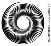 geometric radial element.... | Shutterstock .eps vector #1022280337