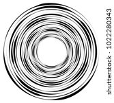 geometric radial element.... | Shutterstock .eps vector #1022280343