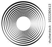 geometric radial element.... | Shutterstock .eps vector #1022280613