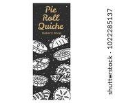meat pie  roll  quiche vector...   Shutterstock .eps vector #1022285137