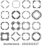 collection of square frames 2 | Shutterstock .eps vector #1022322217