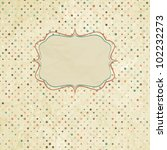 vintage polka dot card. and... | Shutterstock .eps vector #102232273