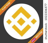 binance coin sign flat icon for ...