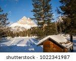 tre cime di lavaredo  dolomites ... | Shutterstock . vector #1022341987