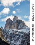 tre cime di lavaredo  dolomites ... | Shutterstock . vector #1022341993