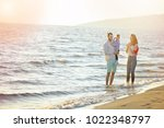portrait of happy family and...   Shutterstock . vector #1022348797