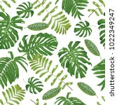beautiful tropical pattern with ... | Shutterstock .eps vector #1022349247