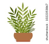 house plant icon. flat... | Shutterstock .eps vector #1022353867