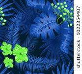 uv ultra violet luminous neon... | Shutterstock .eps vector #1022354407