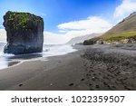 view on the black beach near... | Shutterstock . vector #1022359507