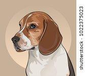 cartoon dog head. dog of the... | Shutterstock .eps vector #1022375023