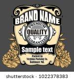vector vintage label | Shutterstock .eps vector #1022378383