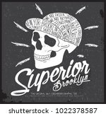 skateboarder apparel graphic | Shutterstock .eps vector #1022378587