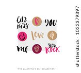valentines day calligraphy gift ... | Shutterstock .eps vector #1022379397