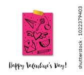 happy valentine's day .... | Shutterstock .eps vector #1022379403