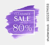 sale save up to 70  off sign... | Shutterstock .eps vector #1022379553
